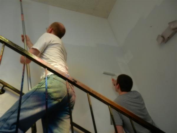 Nick and Jason painting